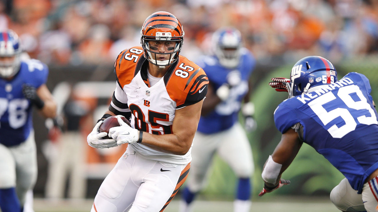 VIDEO Tyler Eifert s would be TD overturned as NFL catch rules