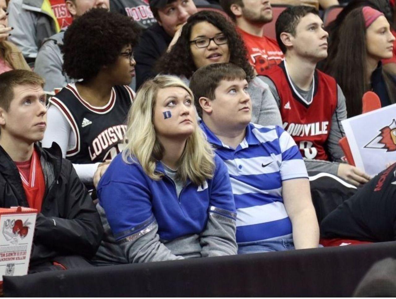 Duke fans appear to regret sitting in Louisville's student ...