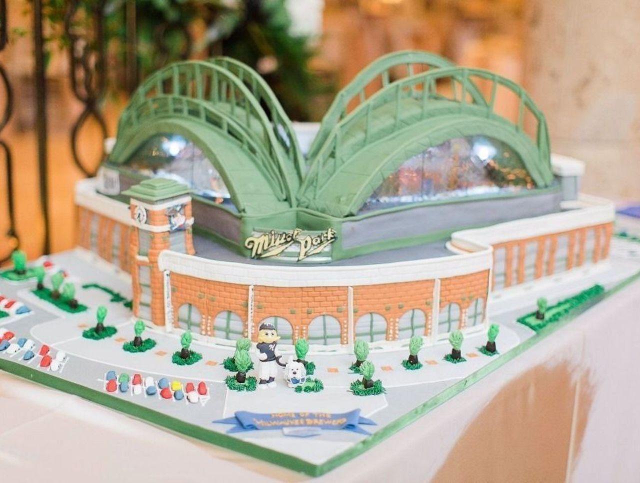 Cropped miller park cake