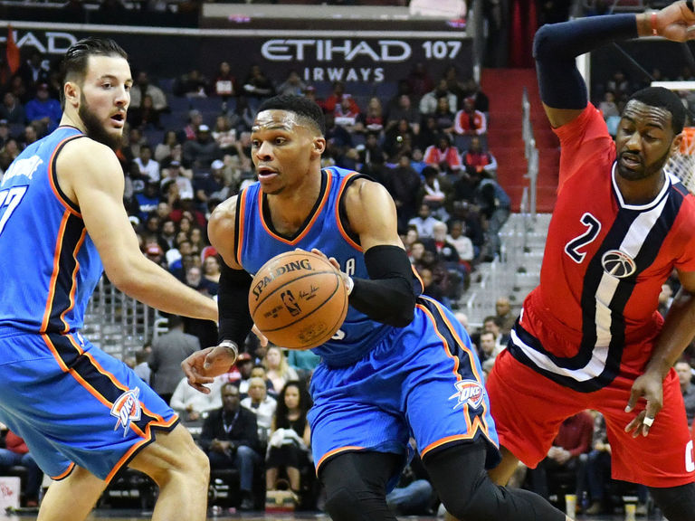 Thunder miss 24 straight shots in loss to Wizards