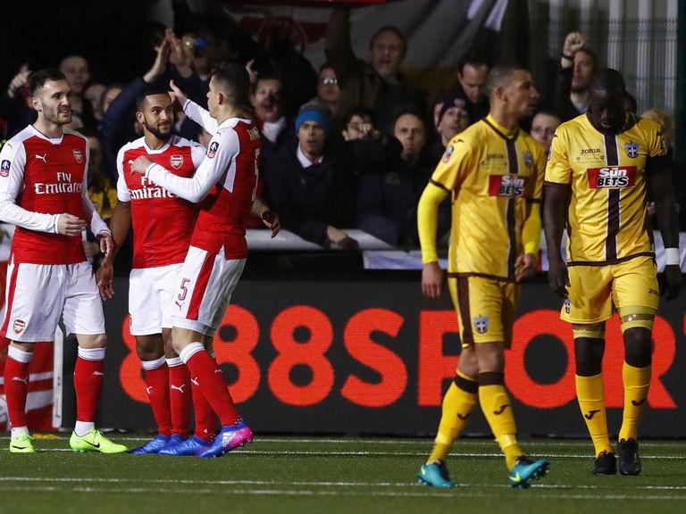 Ton-up Walcott ends Sutton's FA Cup dream | theScore com