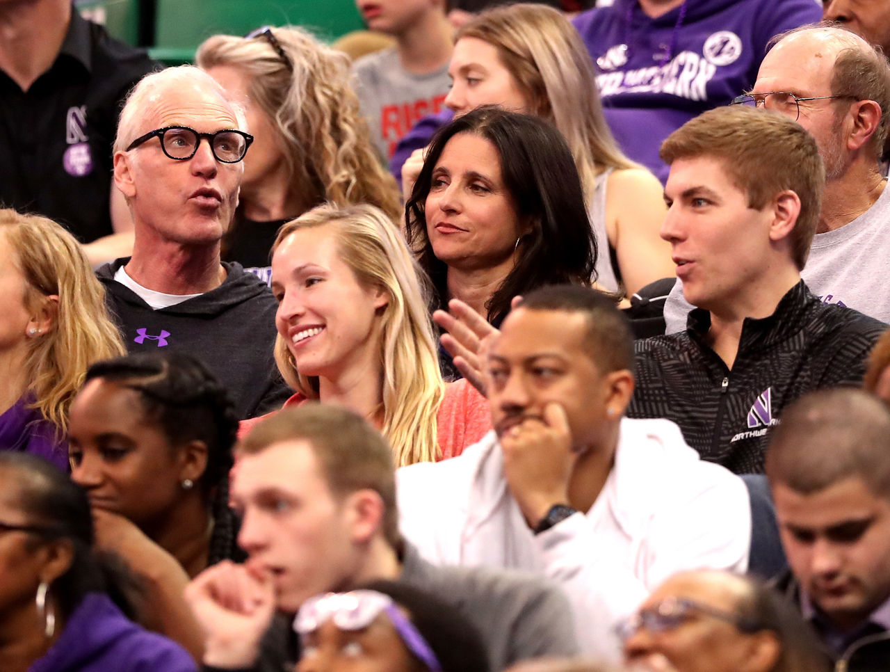 Northwestern alumni fans react to 1st tournament win in for Where did julia louis dreyfus go to college