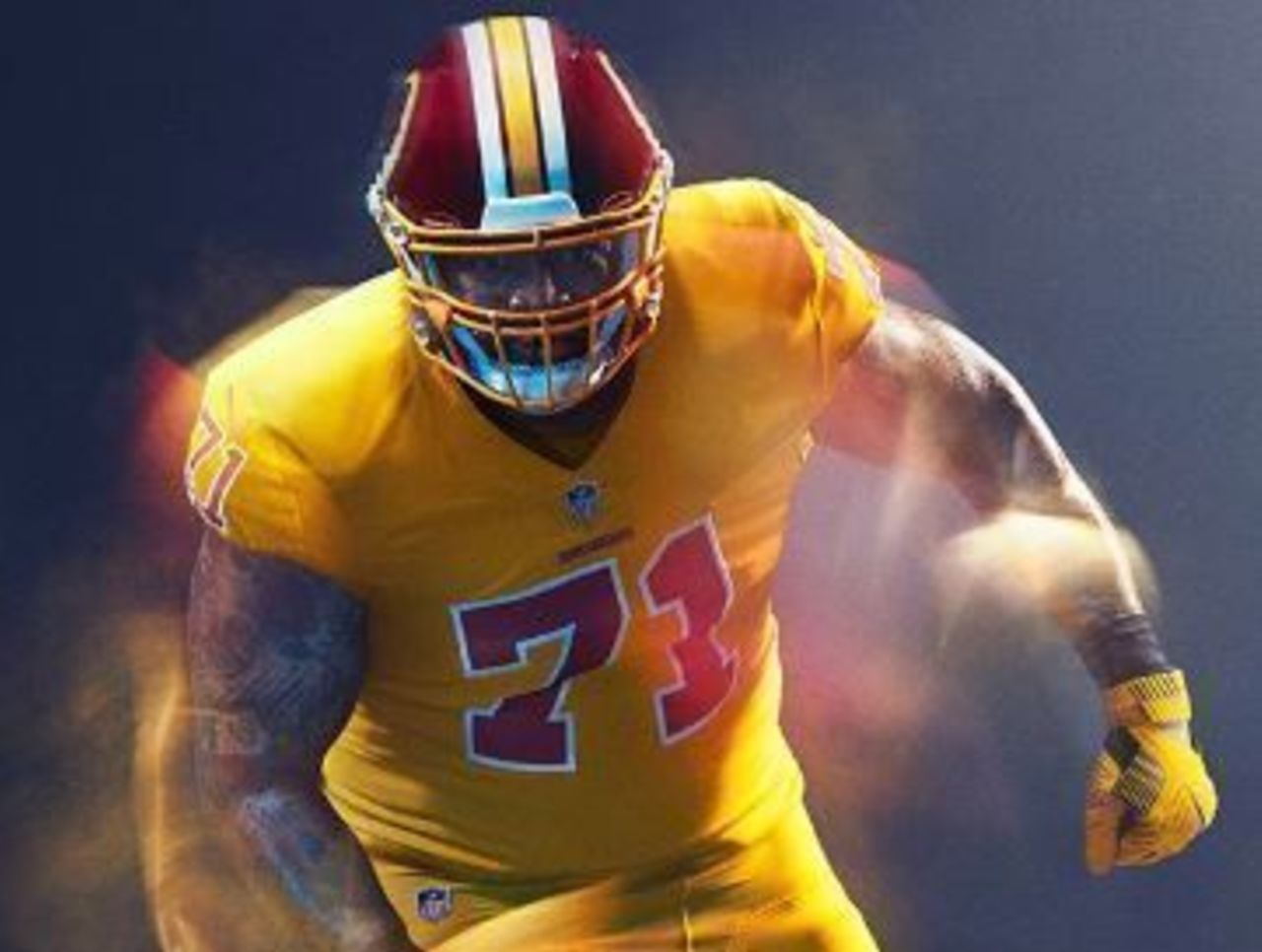 Cropped redskins color rush