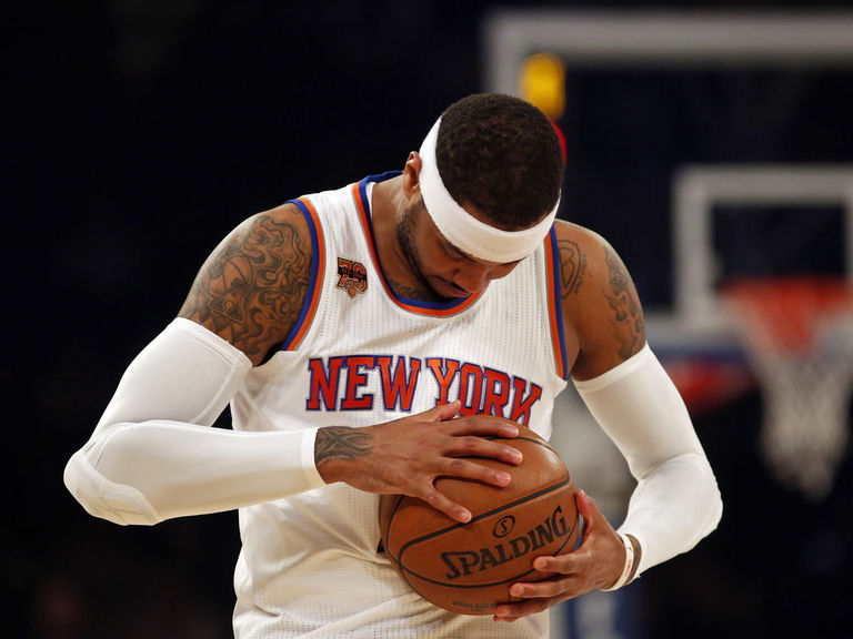 Carmelo suggests fans 'come play' if they want Knicks to tank