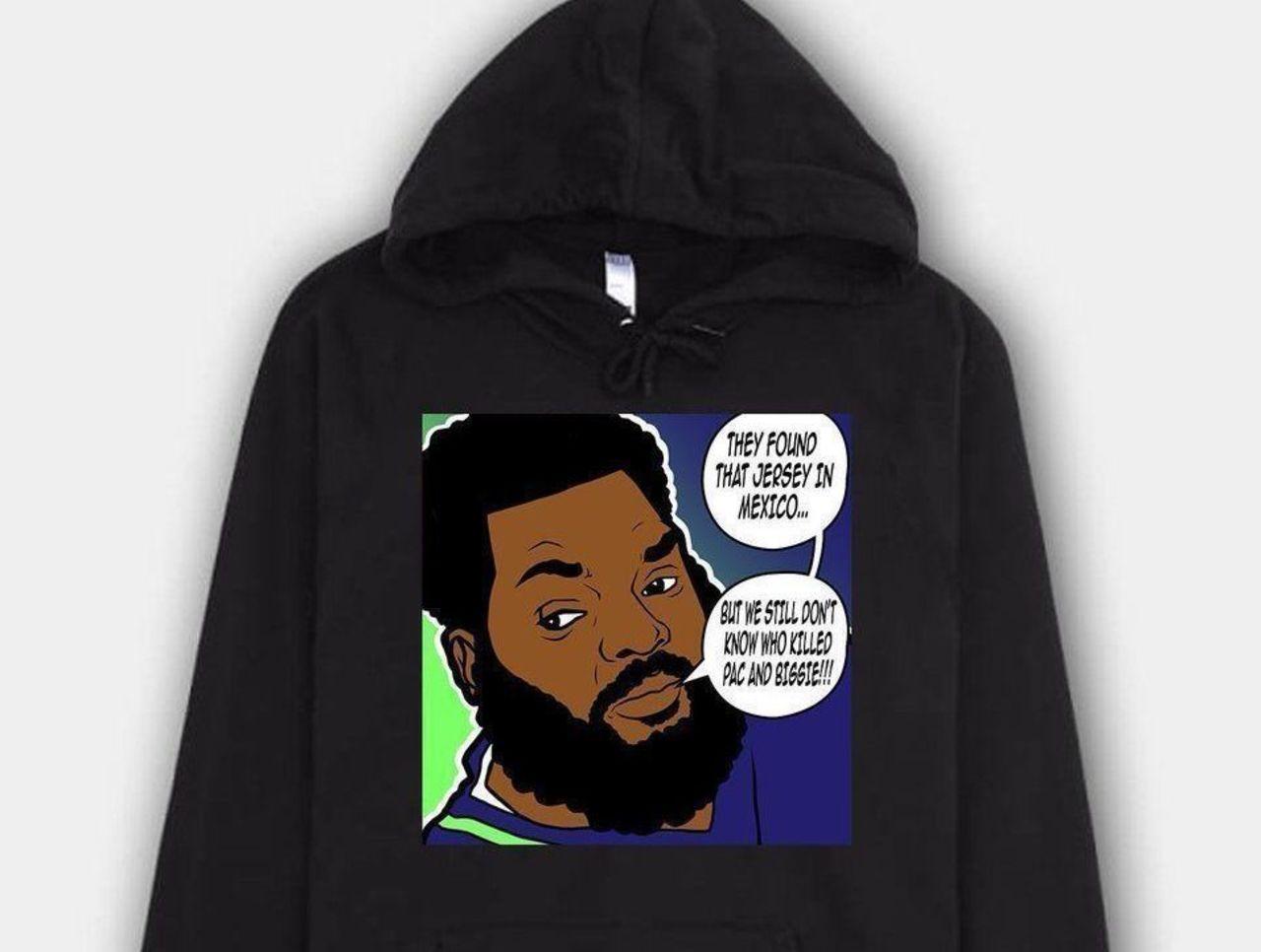 Michael Bennett selling Brady jersey mystery hoodies