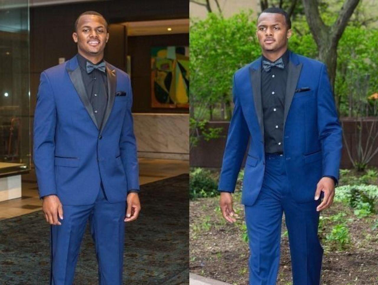 Cropped deshaun watson blue suit