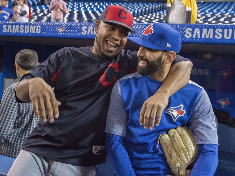 Watch: Encarnacion, Bautista share bro hug at Rogers Centre