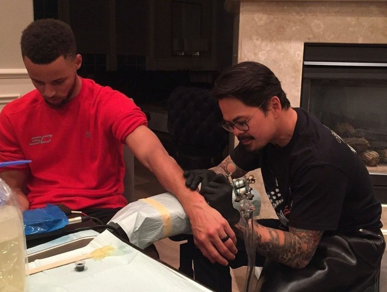 Steph Ayesha Dell Curry tattoos to celebrate Warriors title