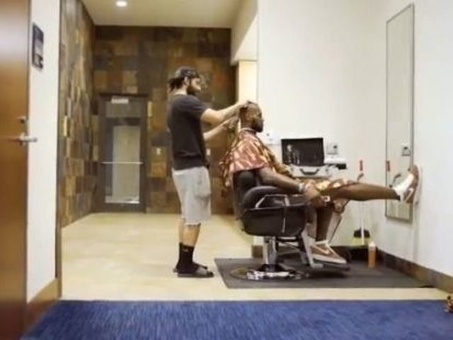 Watch: LeBron reflects on Finals loss while getting haircut