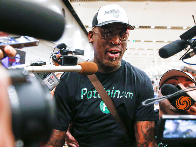 Rodman returns from North Korea; trip goes by without incident