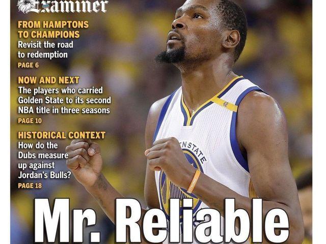 Look: Bay Area newspaper trolls OKC after Durant's title win