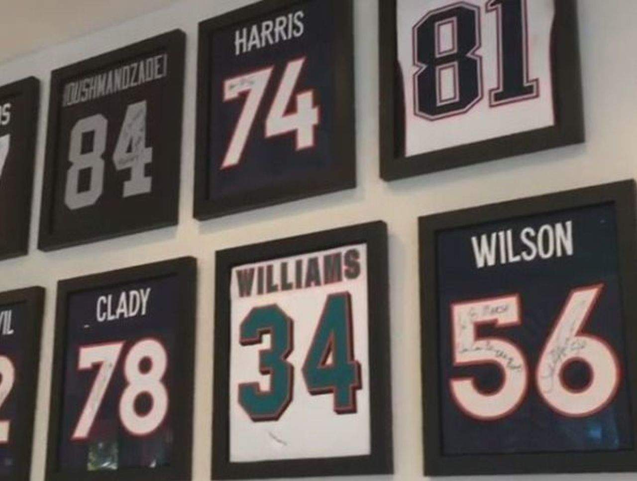 Watch  Brandon Marshall s jersey collection is an NFL fan s dream ... 335fffb48