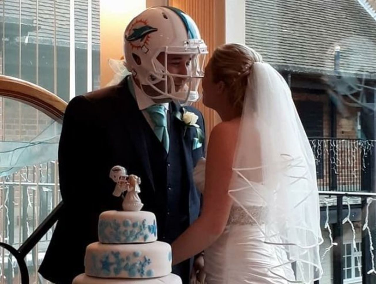 Cropped dolphins wedding