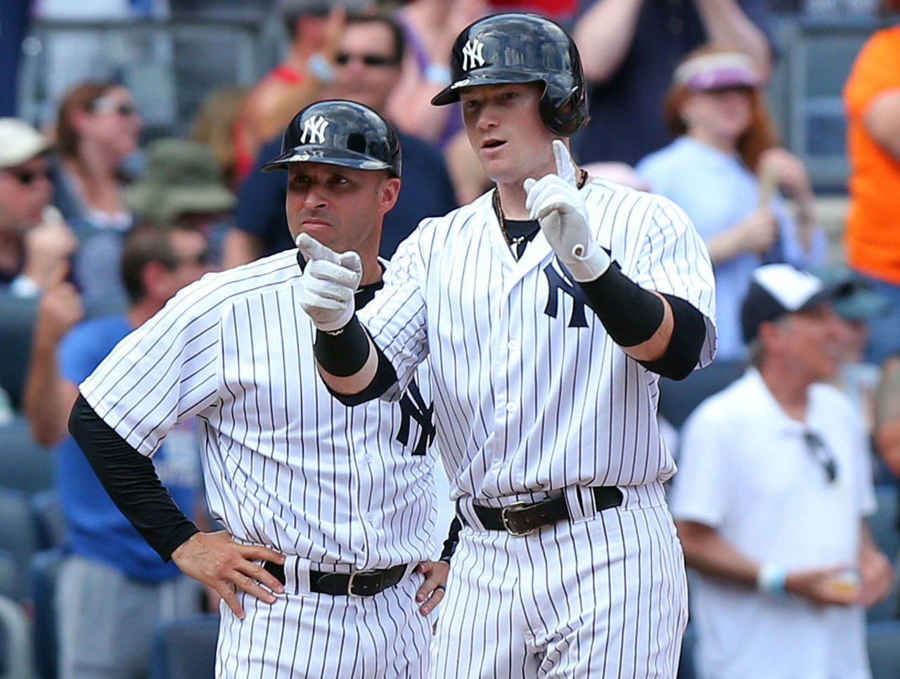 Watch Yankees Frazier Muscles 1st Career Walk Off Hr