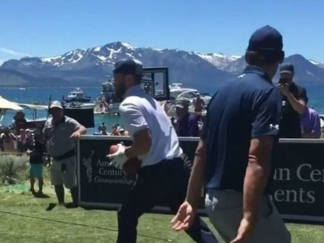 Watch: Romo, Curry, Timberlake connect on flea flicker