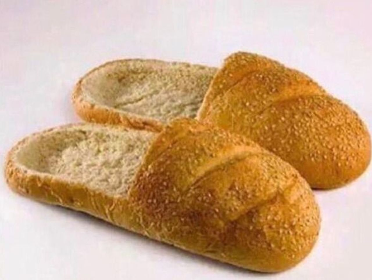 Cropped bread shoes