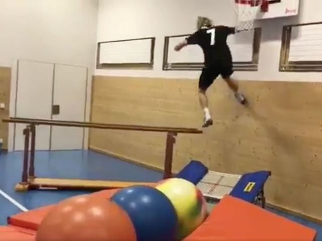 Watch: Olympic skier shows off epic parkour-style workout