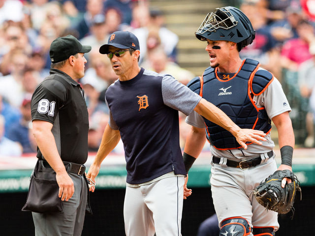 Ausmus: 'Out of line' to suggest Tigers intentionally hit umpire with pitch