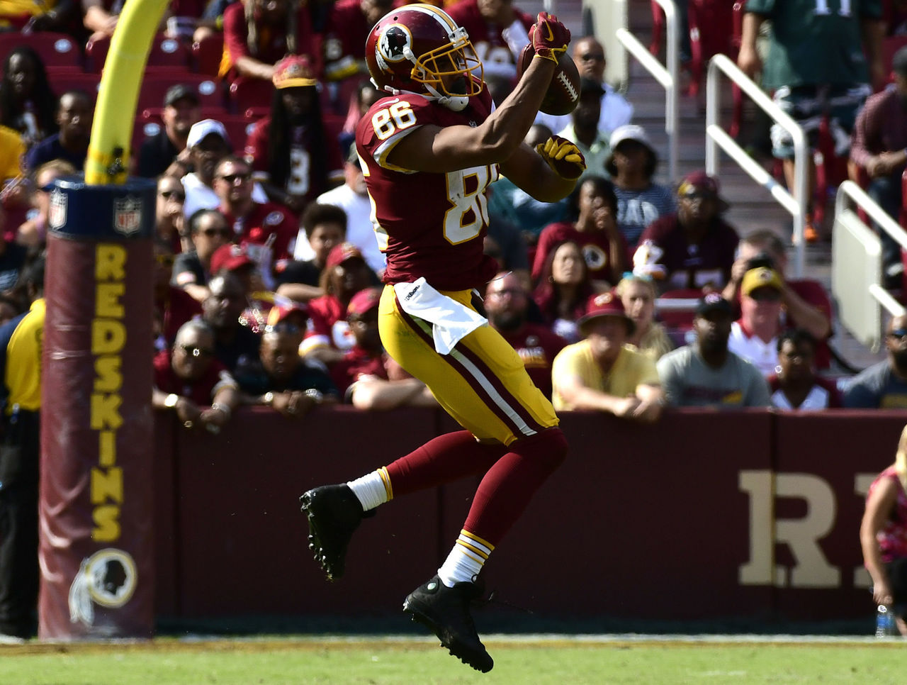 Redskins' Kelley, Reed, Crowder questionable vs. Chiefs