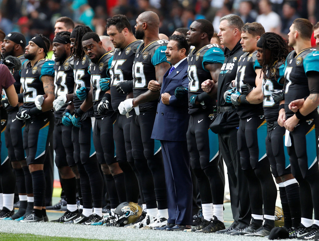 Jaguars release statement announcing intention to stand for anthem