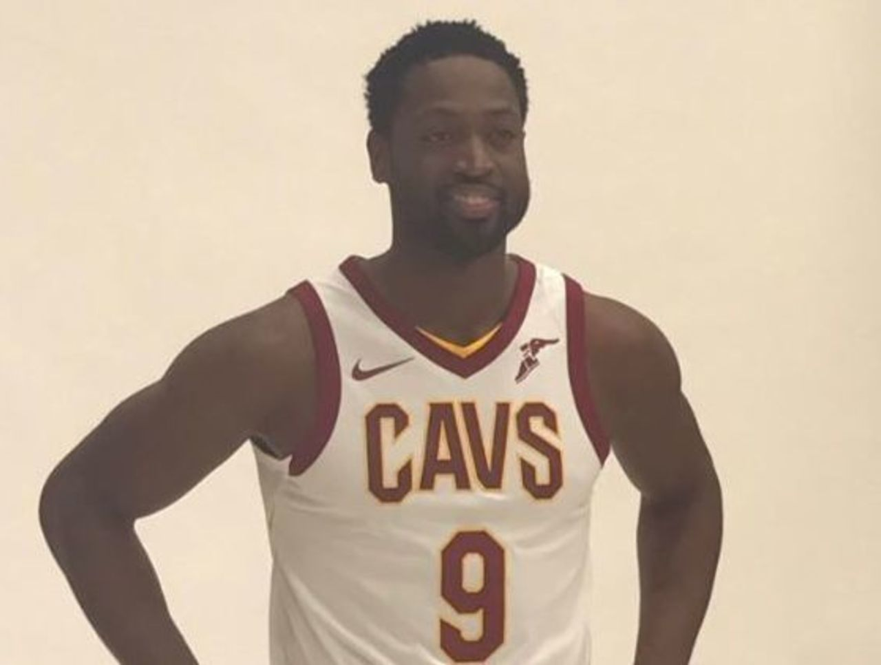 huge selection of 24fec 7461c Look: Wade rocks No. 9 Cavaliers jersey for 1st time ...