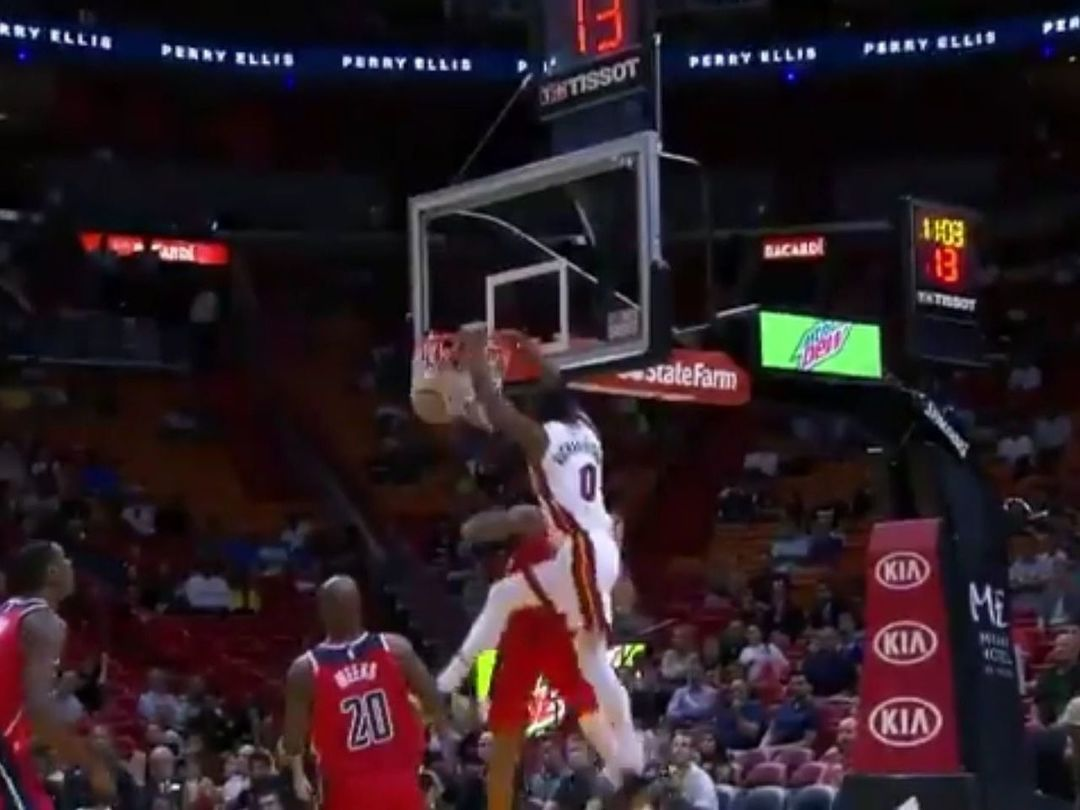 Josh Richardson throws down alley-oop dunk over Kelly Oubre