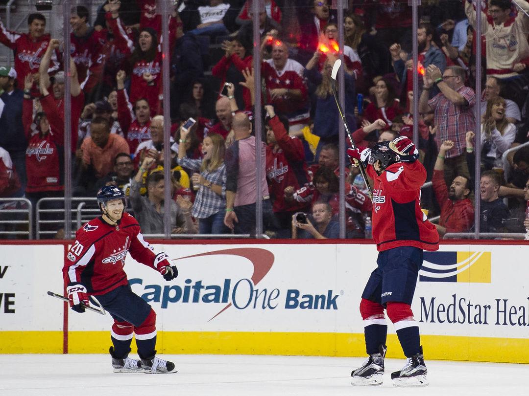 Watch: Capitals' Djoos tees up 1st NHL goal in debut