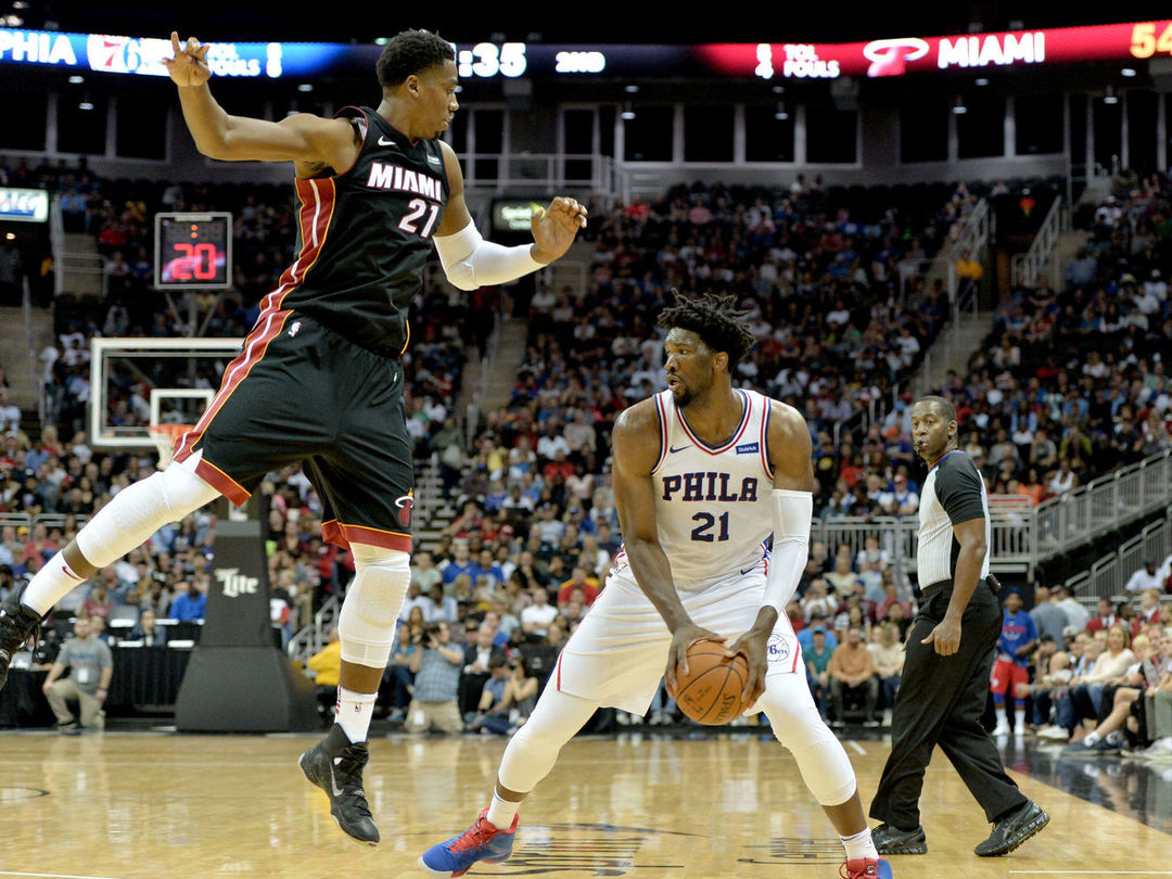 Watch: Embiid roasts Whiteside, says he 'can't guard him'