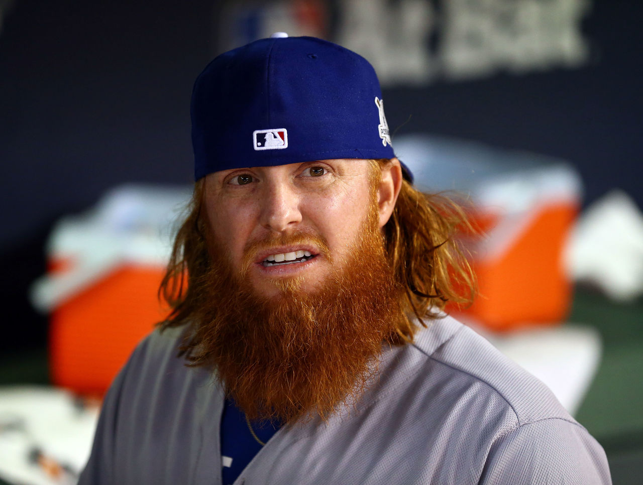 mlb dodgers beards turner justin beard