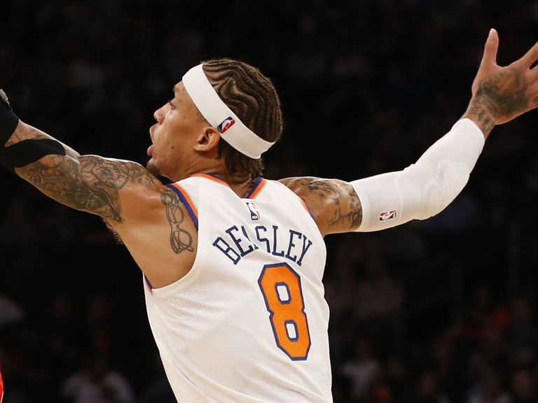 Beasley suffers ankle injury after landing on Westbrook s foot ... 651d2bace