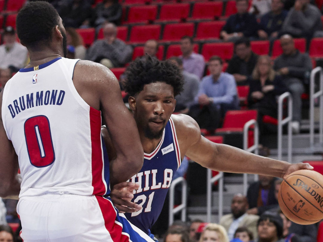 Drummond: Embiid can talk to me 'when he can play a whole season'