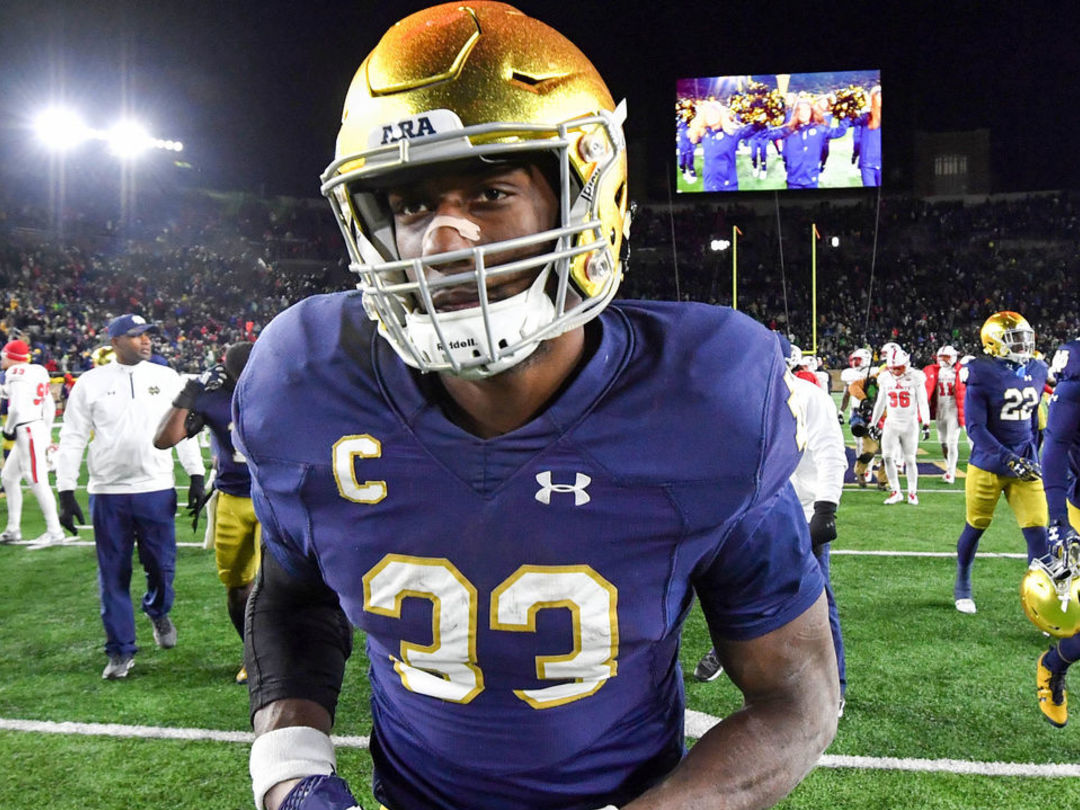 Notre Dame star Josh Adams heads to the NFL