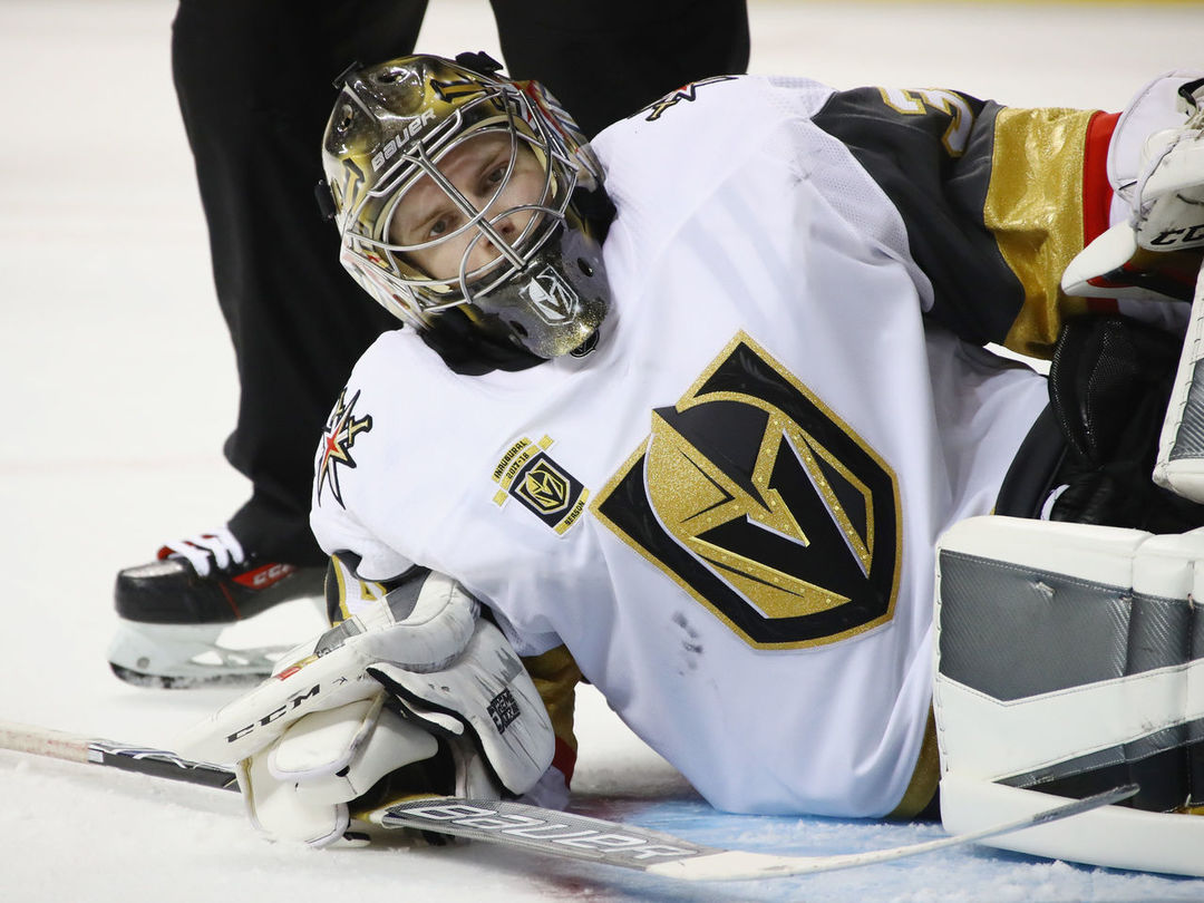 Golden Knights Lose Another Goalie To Injury As Dansk Leaves Game