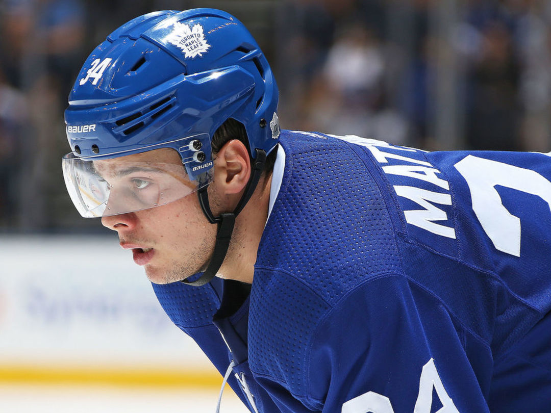 Matthews held without shot on goal for 1st time in NHL career