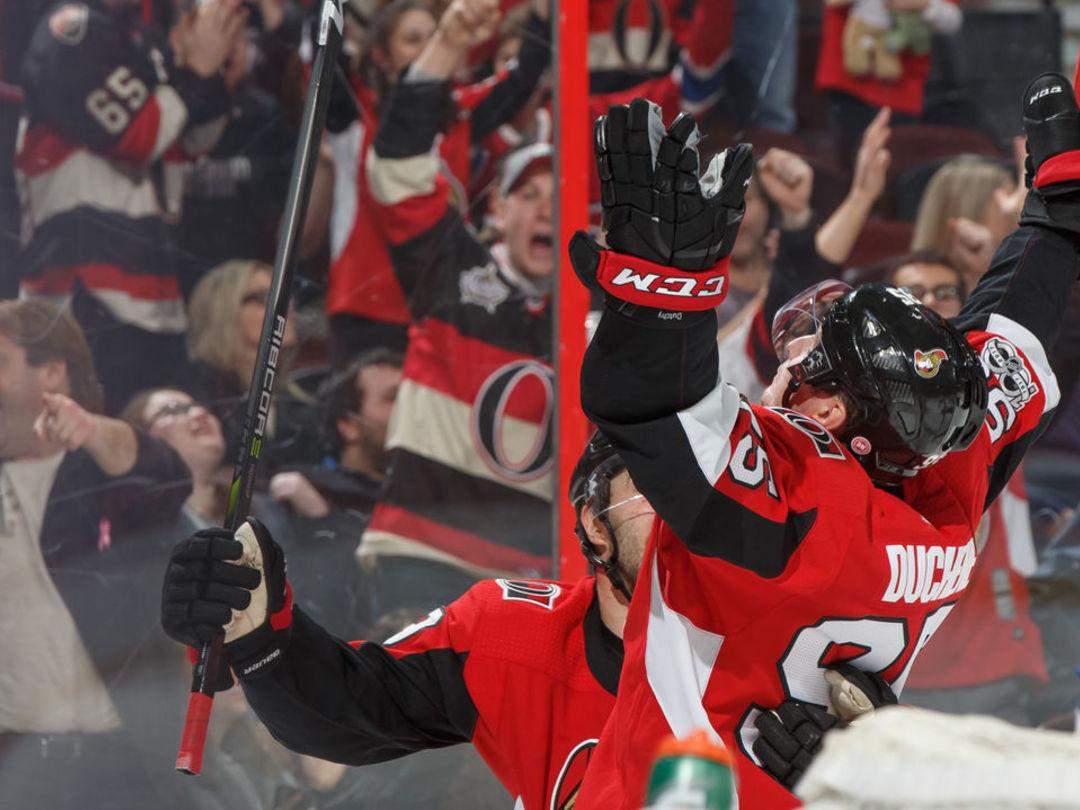 Watch: Duchene pots 1st goal with Senators in 8th game