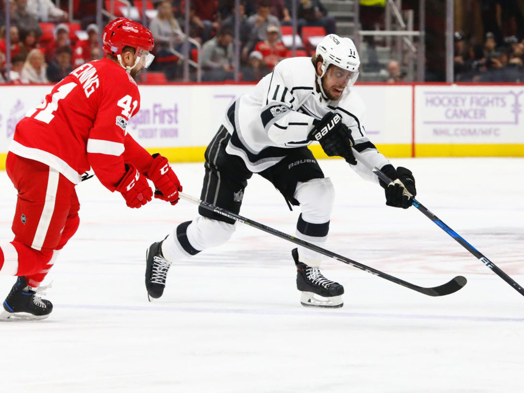 Kopitar matches goal total from last season in 51 fewer games