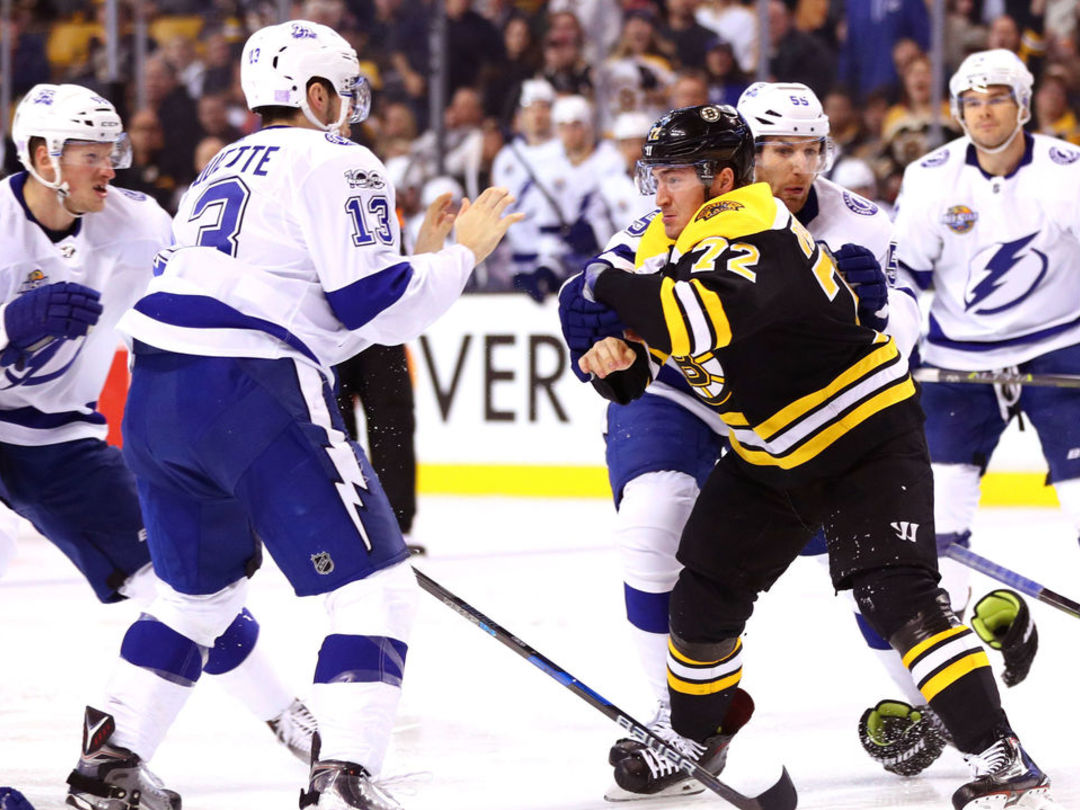 Lightning's Paquette will have hearing for boarding Bruins' Krug
