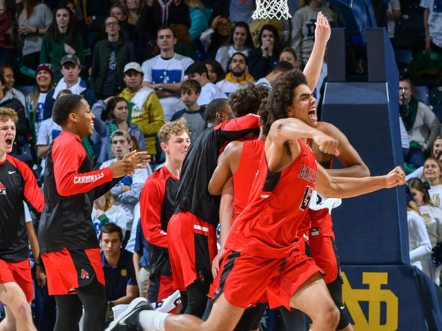 Ball State shocks No. 9 Notre Dame on last-second 3