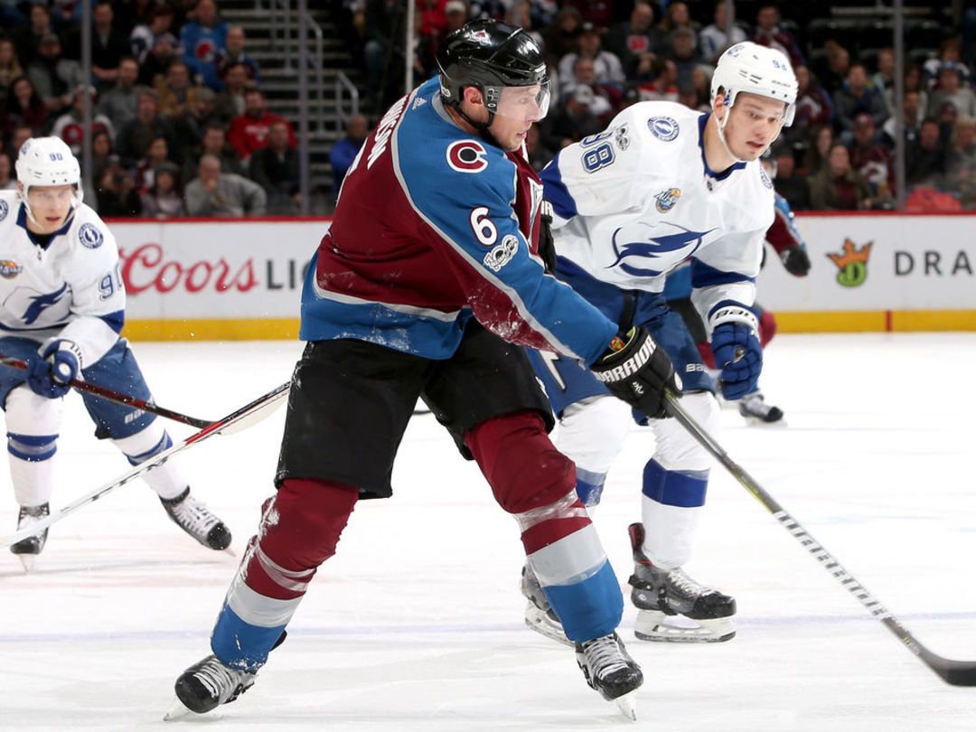 Avalanche's Johnson to have hearing for boarding Lightning's Namestnikov