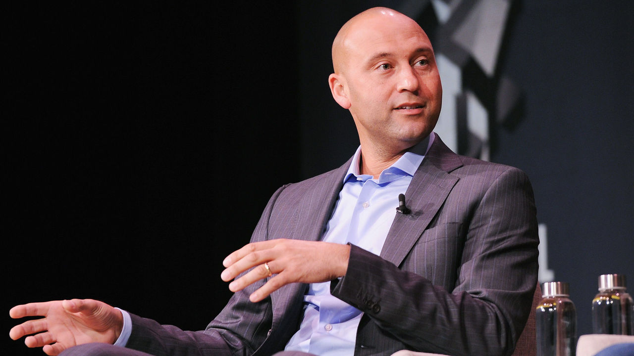 NEW YORK, NY - OCTOBER 26: Derek Jeter speaks onstage for Derek Jeter On Finding Professional Fulfillment After The Dream Career Featuring Derek Jeter, Founder, The Players' Tribune, And Jeff Levick, CEO, The Players' Tribune during Fast Company Innovation Festival at 92nd Street Y on October 26, 2017 in New York City. (Photo by Craig Barritt/Getty Images for Fast Company)