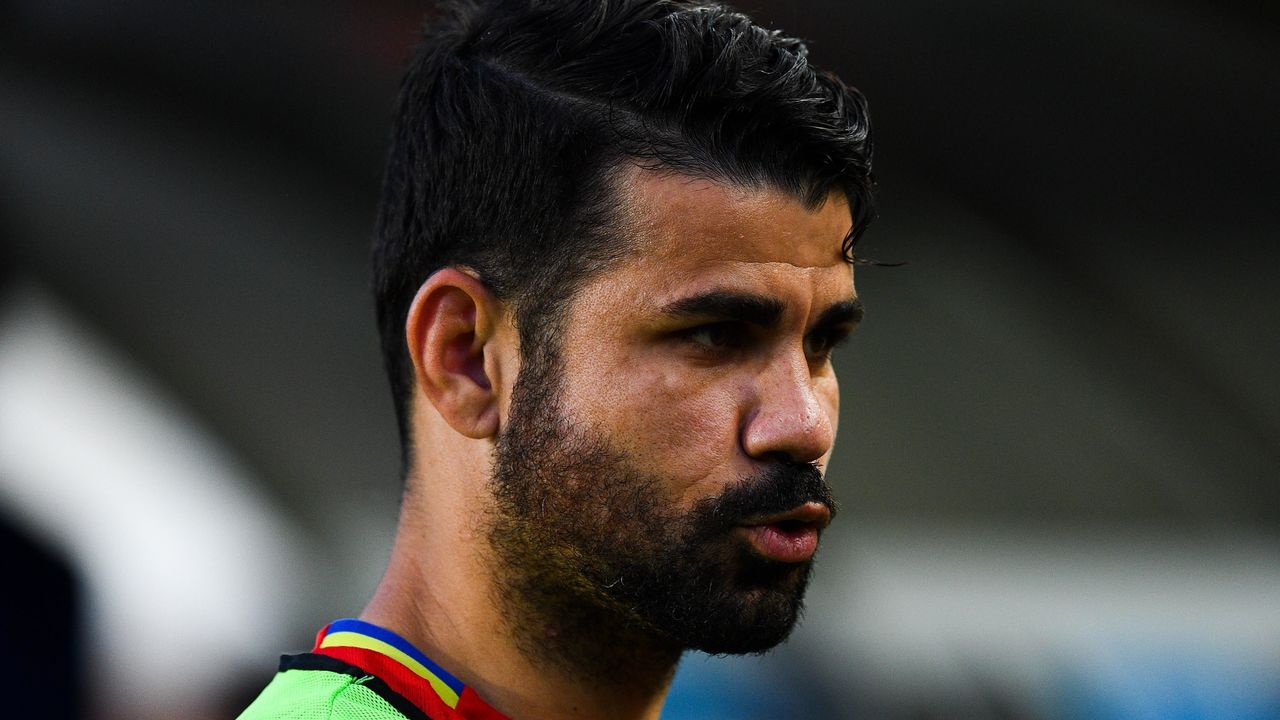 MURCIA, SPAIN - JUNE 07: Diego Costa of Spain looks on during a friendly match between Spain and Colombia at La Nueva Condomina stadium on June 7, 2017 in Murcia, Spain.
