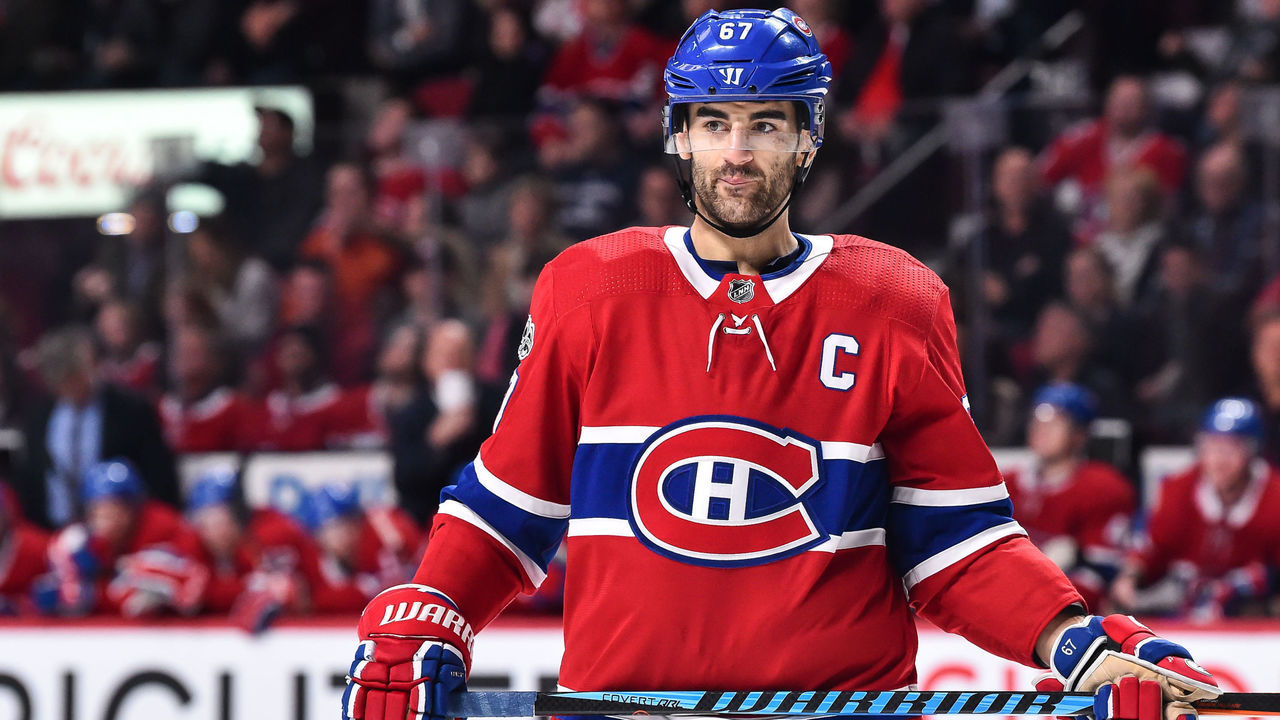 MONTREAL, QC - DECEMBER 09: Max Pacioretty #67 of the Montreal Canadiens looks on against the Edmonton Oilers during the NHL game at the Bell Centre on December 9, 2017 in Montreal, Quebec, Canada. The Edmonton Oilers defeated the Montreal Canadiens 6-2.