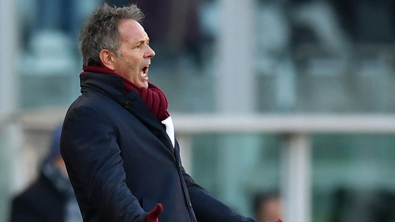 TURIN, ITALY - DECEMBER 30: Torino FC head coach Sinisa Mihajlovic reacts during the serie A match between Torino FC and Genoa CFC at Stadio Olimpico di Torino on December 30, 2017 in Turin, Italy.