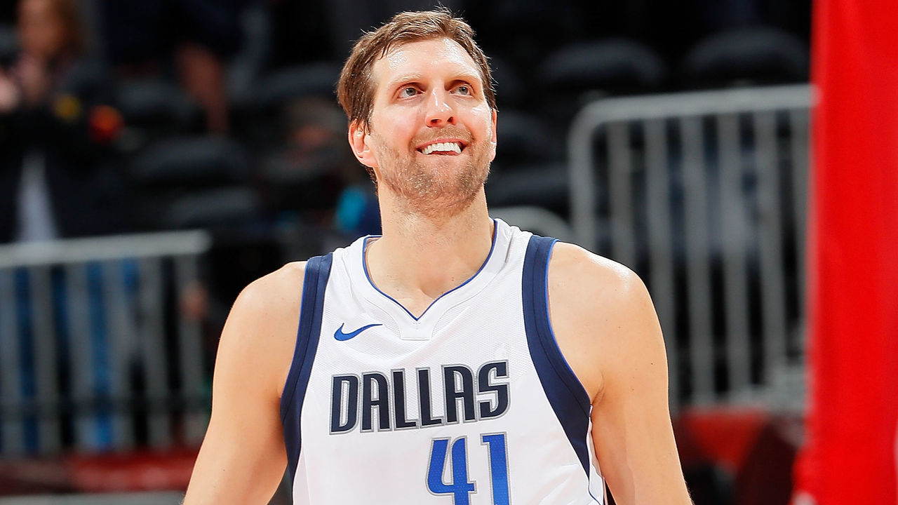 ATLANTA, GA - DECEMBER 23: Dirk Nowitzki #41 of the Dallas Mavericks reacts after their 112-107 loss to the Atlanta Hawks at Philips Arena on December 23, 2017 in Atlanta, Georgia.