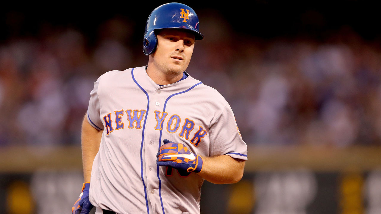 DENVER, CO - AUGUST 02: Jay Bruce #19 of the New York Mets circle the bases after hitting a home run in the fourth inning against the Colorado Rockies at Coors Field on August 2, 2017 in Denver, Colorado.