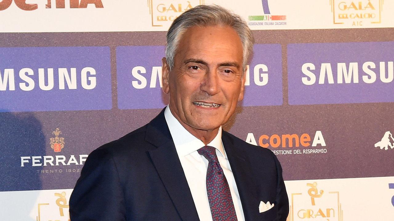 MILAN, ITALY - NOVEMBER 27: Gabriele Gravina attends the Gran Gala Del Calcio 2017 on November 27, 2017 in Milan, Italy.