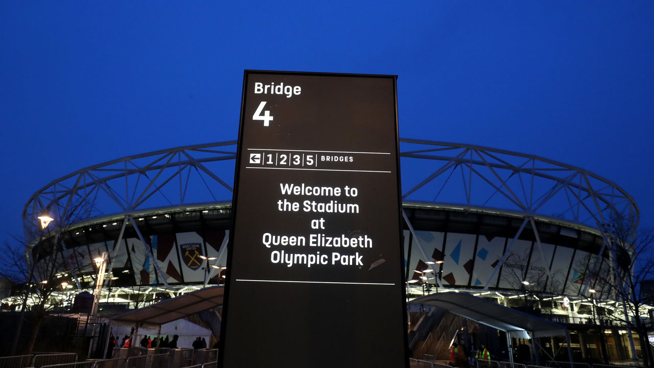 LONDON, ENGLAND - JANUARY 02: A general view outside the stadium prior to the Premier League match between West Ham United and West Bromwich Albion at London Stadium on January 2, 2018 in London, England.