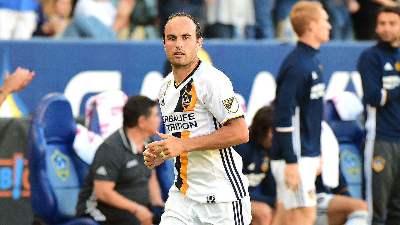 CARSON, CA - SEPTEMBER 11: Landon Donovan #26 of the Los Angeles Galaxy enters the game against Orlando City FC returning from retirement at StubHub Center on September 11, 2016 in Carson, California.