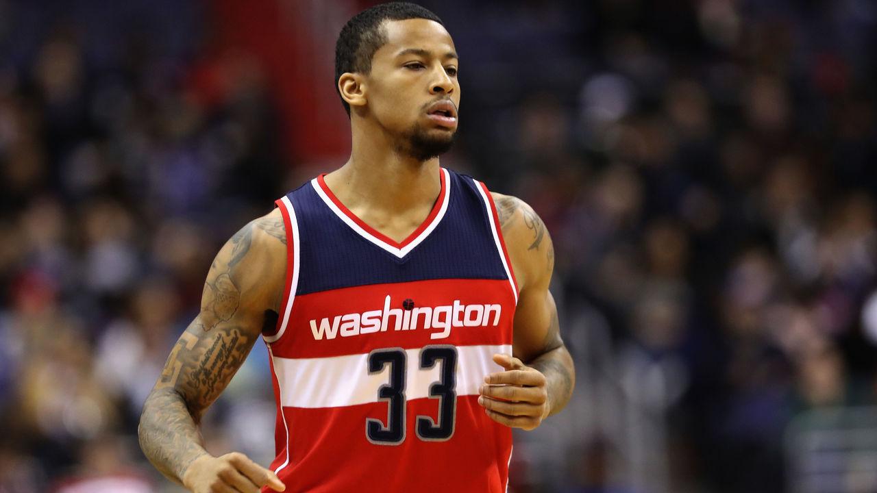WASHINGTON, DC - DECEMBER 16: Trey Burke #33 of the Washington Wizards runs on the court against the Detroit Pistons at Verizon Center on December 16, 2016 in Washington, DC.