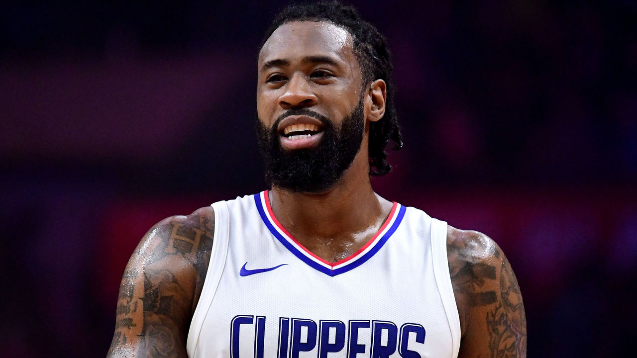 LOS ANGELES, CA - DECEMBER 20: DeAndre Jordan #6 of the LA Clippers laughs during 108-95 wi over the Phoenix Suns at Staples Center on December 20, 2017 in Los Angeles, California.